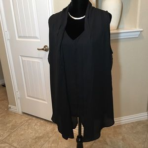 Tops - Elegant Black Sleeveless Top